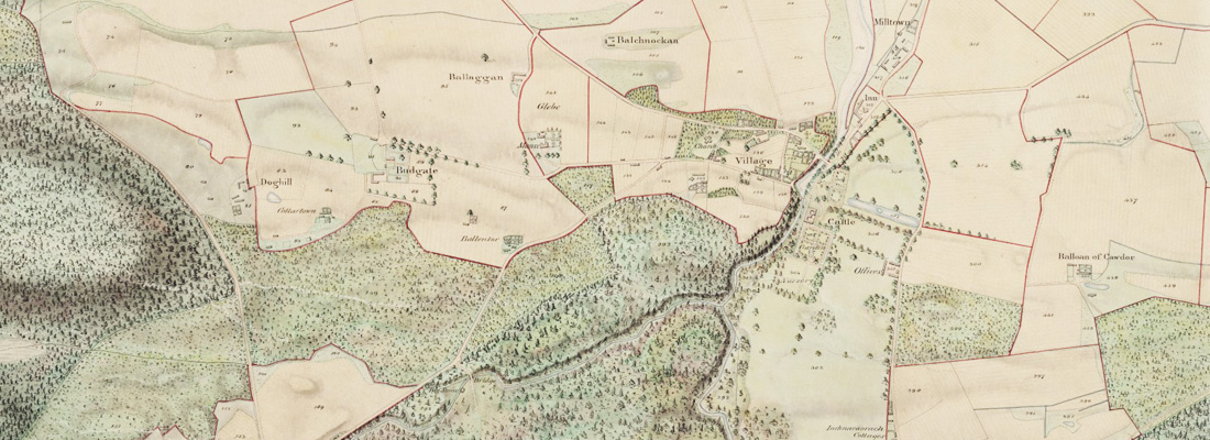 Cawdor Forestry - Old Map