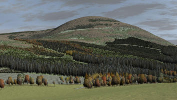 3D Visualization from Cawdor Forestry